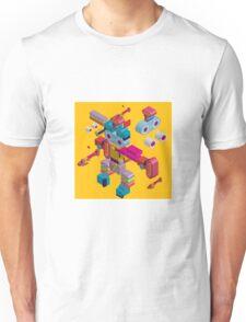 retro robot in style Unisex T-Shirt