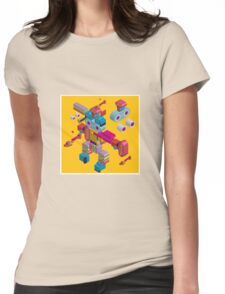 retro robot in style Womens Fitted T-Shirt