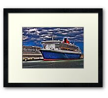 Welcome to Queen Mary 2 Framed Print