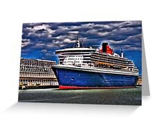 Welcome to Queen Mary 2 Greeting Card