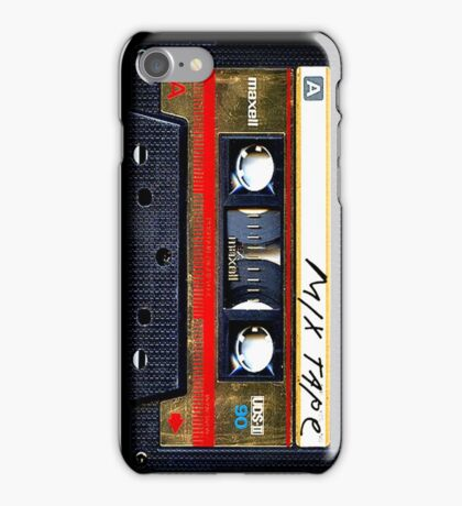 Retro cassette mix tape iPhone Case/Skin