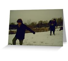 Winter Fights Greeting Card