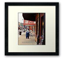 Walking In Memphis Framed Print