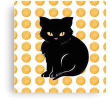 Little Black Cat Canvas Print