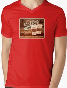 Castle's Coffee Mens V-Neck T-Shirt