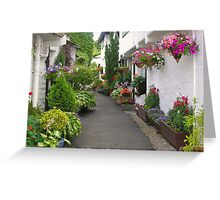 Flag Street, Hawkshead, Cumbria, English Lake District Greeting Card