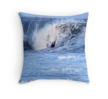 Riding the Beast Throw Pillow
