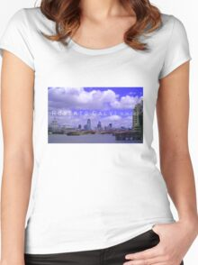 'God's Banker' Women's Fitted Scoop T-Shirt