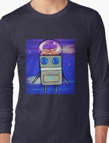 Robot Finds Brains Long Sleeve T-Shirt