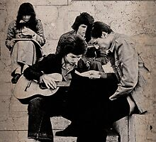 Paris Folksingers, 1977 by Linda Gregory