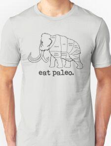 Woolly Mammoth Eat Paleo Butcher Cut Black Unisex T-Shirt