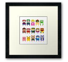 NINTENDO CHARACTERS Framed Print