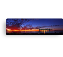 Kwinana Grain Jetty At Dusk  Canvas Print