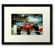 Michael Schumacher in Austria Framed Print