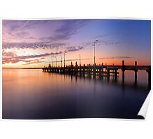Esplanade Jetty At Dusk  Poster