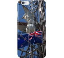 New Zealand ensign aboard ' Spirit of New Zealand ' ........! iPhone Case/Skin