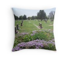 Cemetery in Dodge City Kansas Throw Pillow