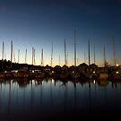 Marina at dusk by S A Stevens