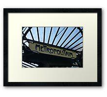 Paris Metro Signage Framed Print