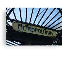 Paris Metro Signage Canvas Print