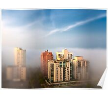 Edmonton in the Fog Poster