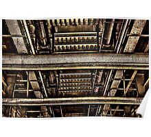 Bridge Construction Fine Art Print Poster