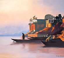 Ganges at Dawn by Sandra Hansen