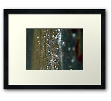 Hard Rain Framed Print