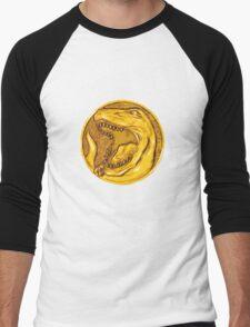 Mighty Morphin Power Rangers Red Ranger Tyrannosaurus Coin Men's Baseball ¾ T-Shirt