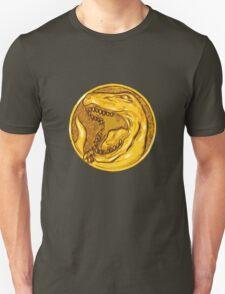 Mighty Morphin Power Rangers Red Ranger Tyrannosaurus Coin Unisex T-Shirt