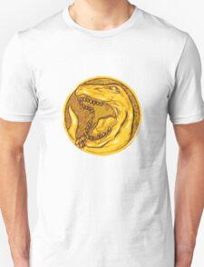 Mighty Morphin Power Rangers Red Ranger Tyrannosaurus Coin T-Shirt