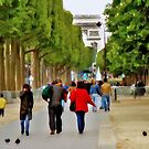 Stroll on the Champs Elysees by Dave Nielsen
