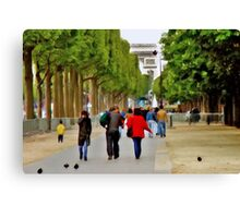Stroll on the Champs Elysees Canvas Print