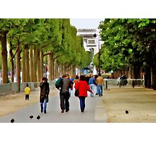 Stroll on the Champs Elysees Photographic Print