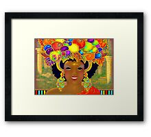 'Even The Common People Wore Gold and the Jewels Were As Big as Fruit' Framed Print