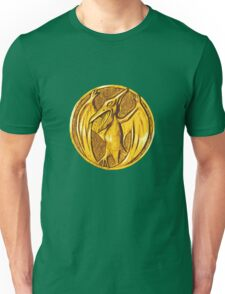 Mighty Morphin Power Rangers Pink Ranger Pteradactyl Coin Unisex T-Shirt