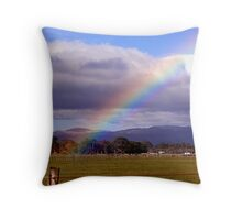 At rainbows end on the Featherston Straight Throw Pillow