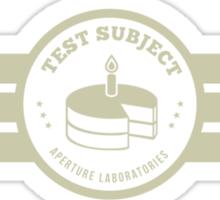 Aperture Laboratories Test Subject Sticker