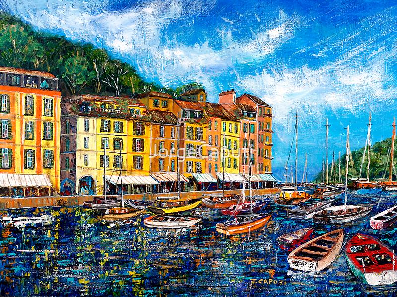 Boats in Portofino by JorgeCaputi