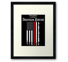Free Since 1776 - American Patriot Framed Print