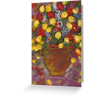 A vase of Flowers1 Greeting Card