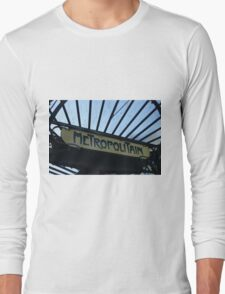 Paris Metro Signage Long Sleeve T-Shirt