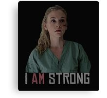 I AM Strong. Canvas Print