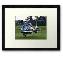 LifeLion medical helicopter landing Framed Print