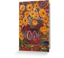 Flowers in a pot 4 Greeting Card