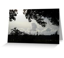 Sunset in Monochrome Greeting Card
