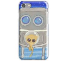 Robot Flies Kitty To Space iPhone Case/Skin
