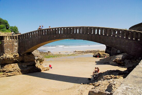 Bridge near Port-Vieux of Biarritz by triciamary