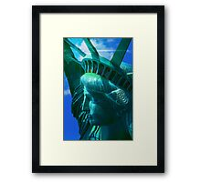 Statue of Liberty Head in The Sun Framed Print