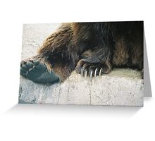 ~Grizzly Bear Claws Greeting Card